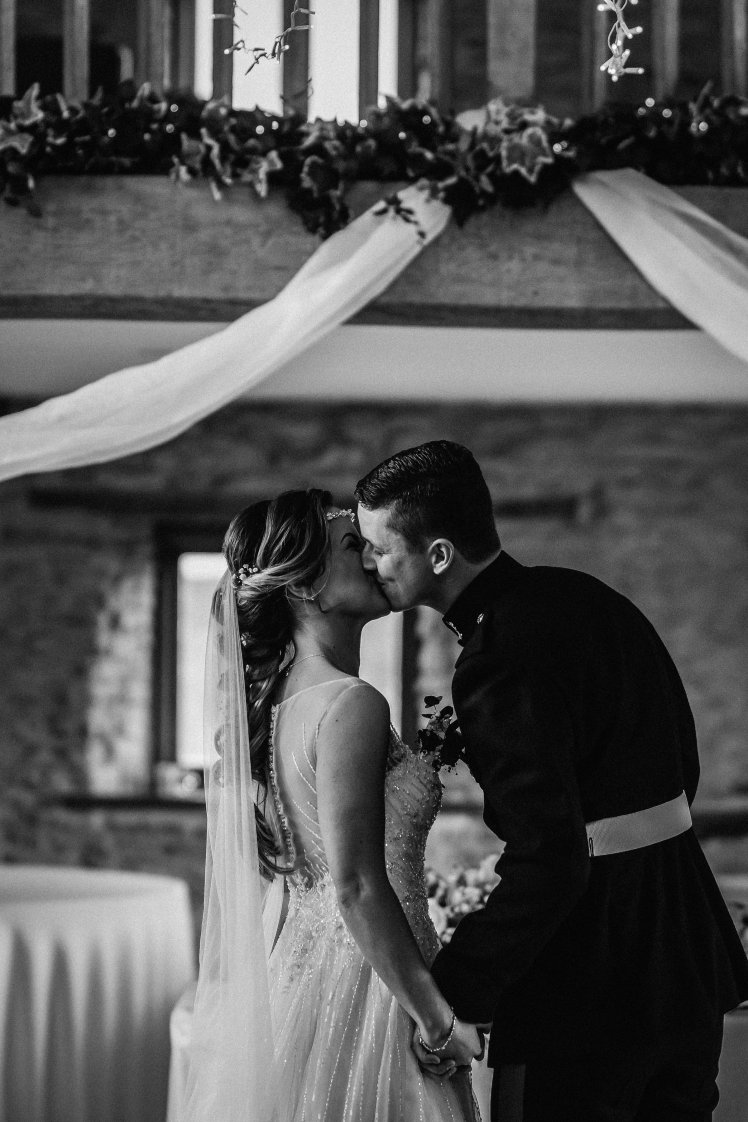 Wedding photography at Kingscote Barn